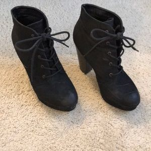 Mossimo Black High Heel Boots size 8.5